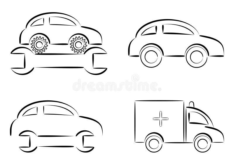 De reparatie van de auto royalty-vrije illustratie