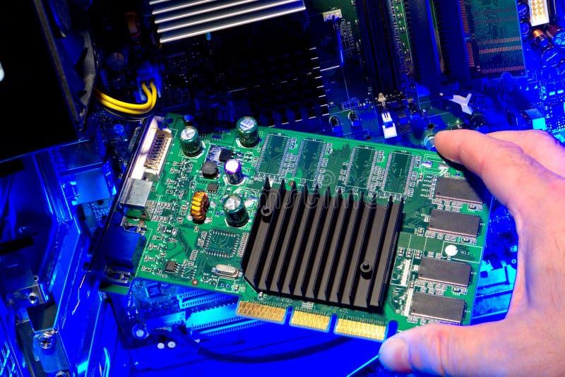 De Reparatie van de computer stock fotografie