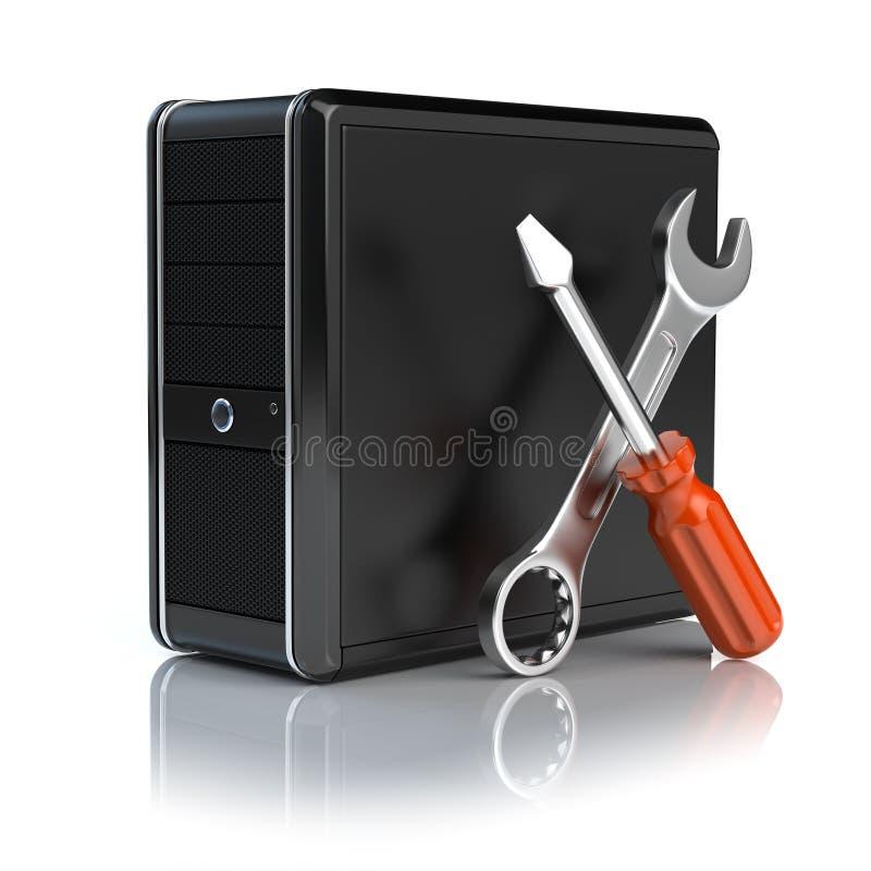 De reparatie van de computer royalty-vrije illustratie