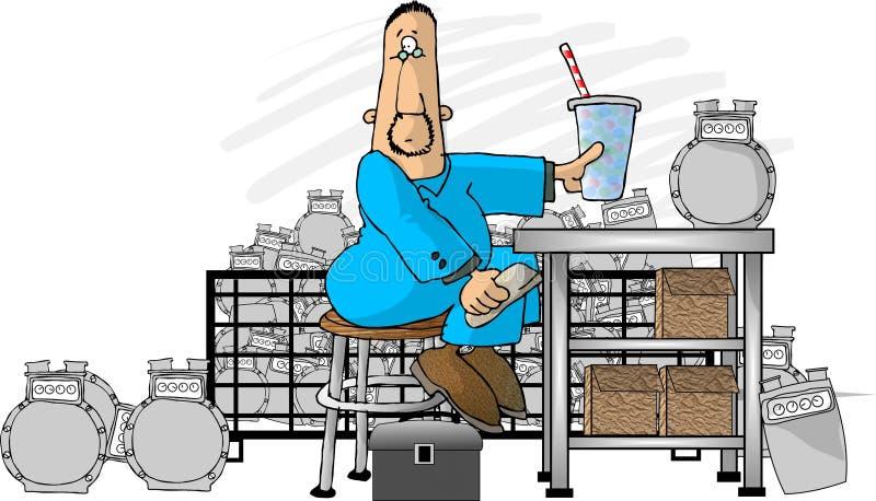 Download De reparatie van de meter stock illustratie. Illustratie bestaande uit humeur - 39347