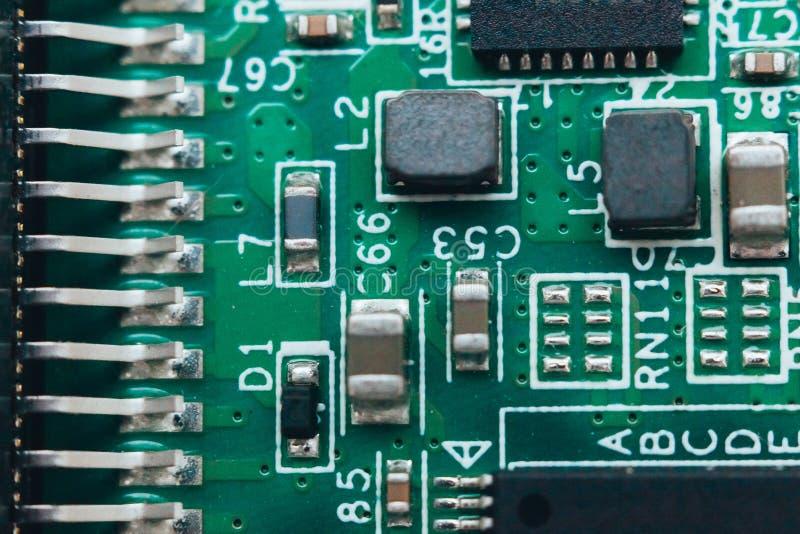 De reparatie van de kringsraad Elektronische hardware moderne technologie Motherboard digitale persoonlijke chip stock foto's