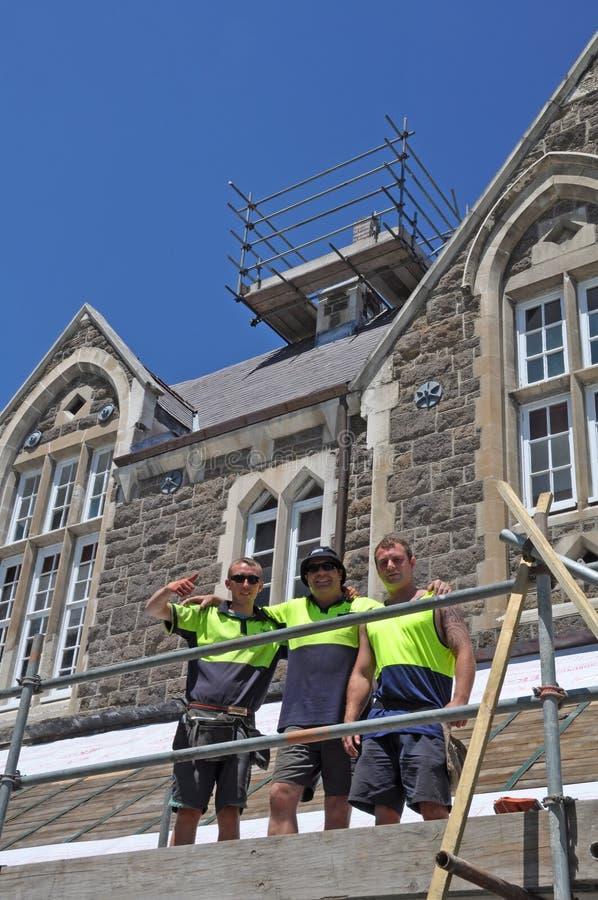De Reparaties van de Aardbeving van de Universiteit van Christus, Christchurch royalty-vrije stock foto's