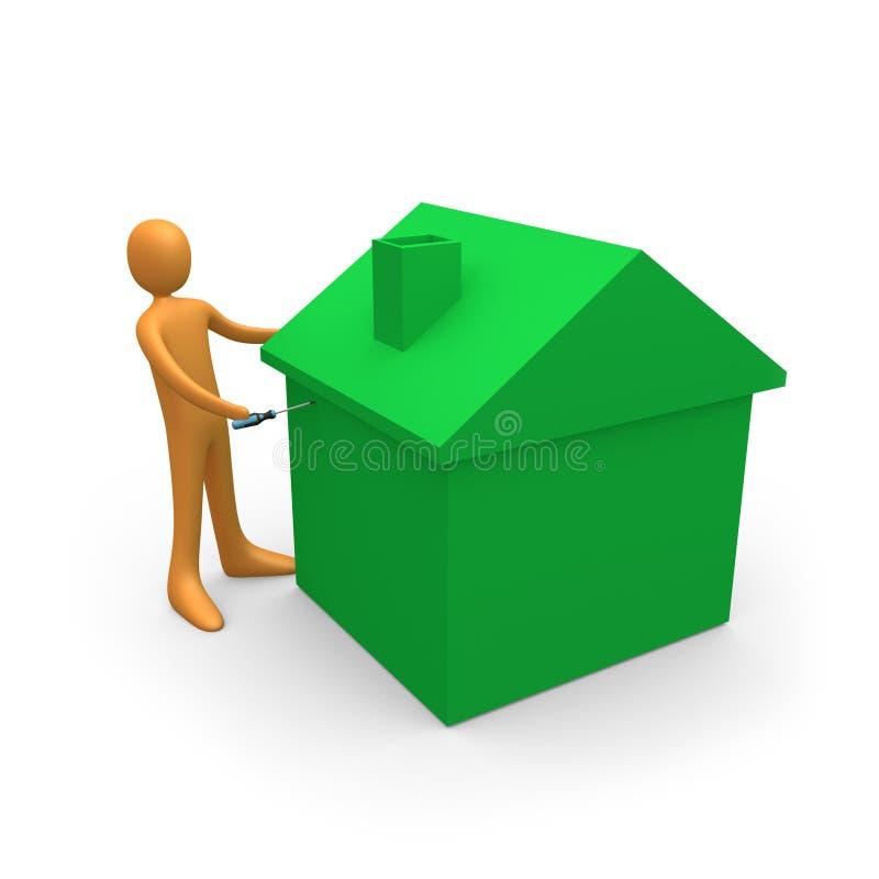 De Reparaties van het huis stock illustratie