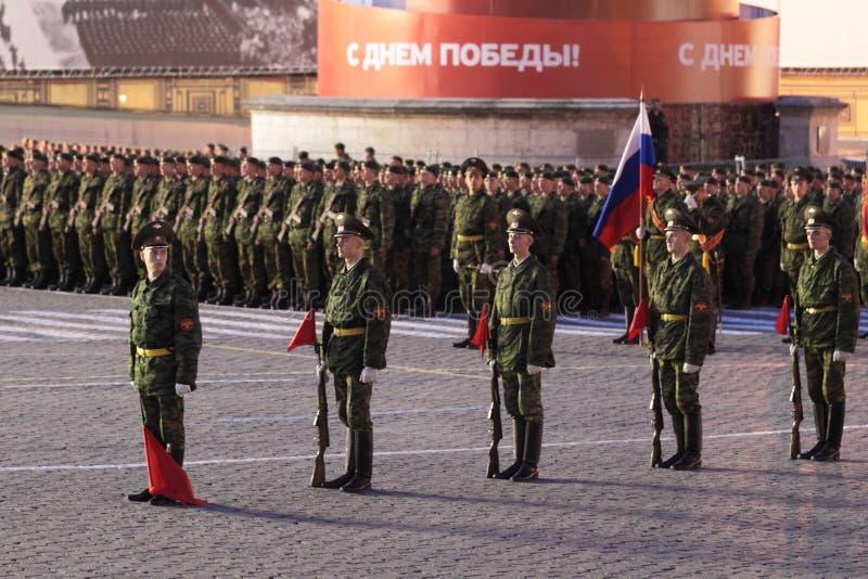 De repetitie van de nacht van parade van een overwinning stock foto