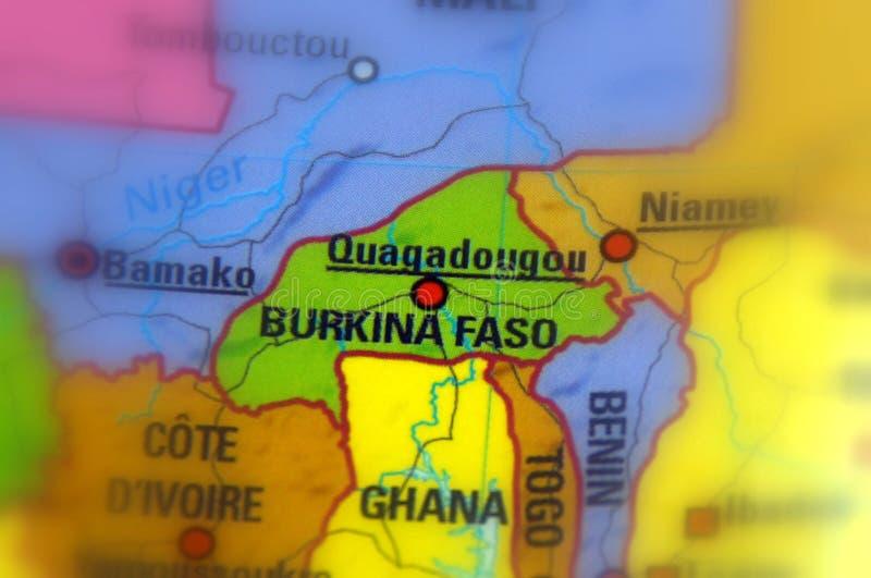 De Republiek van Burkina Faso van Hoger Volta - Afrika royalty-vrije stock afbeelding