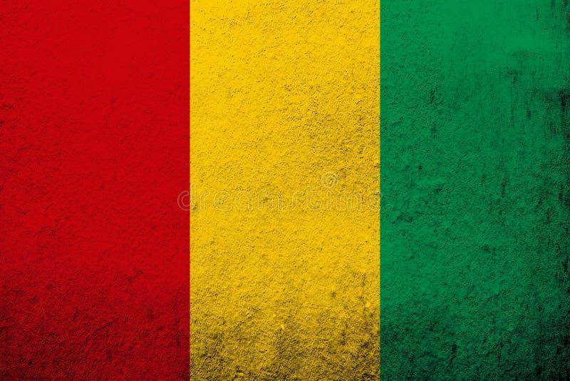 De Republiek van de Nationale vlag van Guinea Kan als prentbriefkaar worden gebruikt vector illustratie