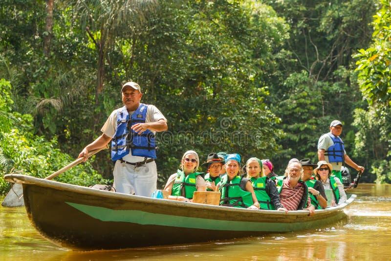De Reserve van het Cuyabenowild, Sucumbios-Provincie, Ecuador, Februari stock fotografie