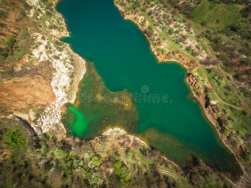 De reserve van het steengroevemeer stock afbeeldingen