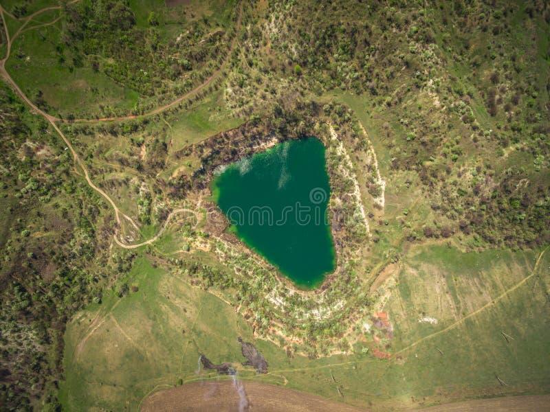 De reserve van het steengroevemeer stock afbeelding