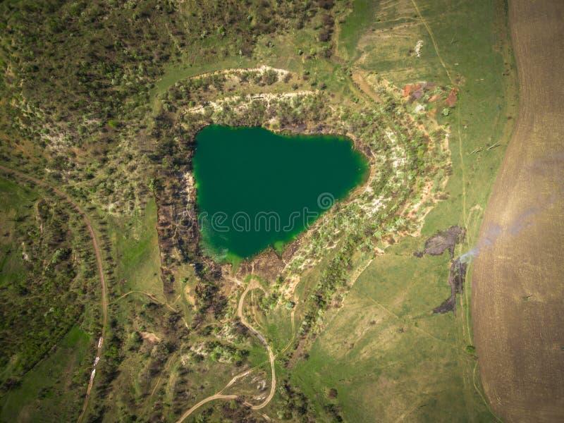 De reserve van het steengroevemeer stock foto