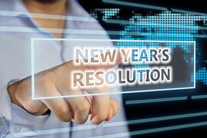 De Resolutie van nieuwjaren stock afbeeldingen