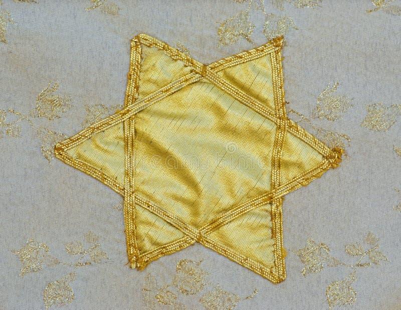 De rest van de jodenster van tapijtwerk stock afbeelding