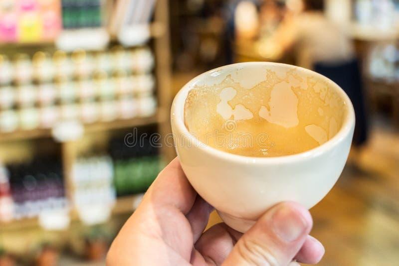 De rest van de koffieespresso royalty-vrije stock foto