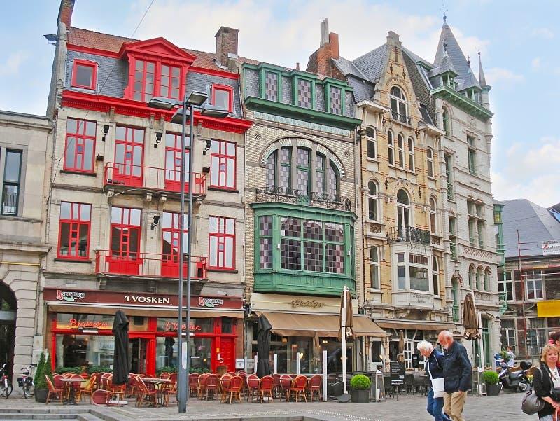De restaurants van Gent stock afbeelding