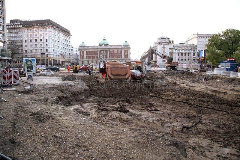 De restauratie van Belgrado stock afbeelding