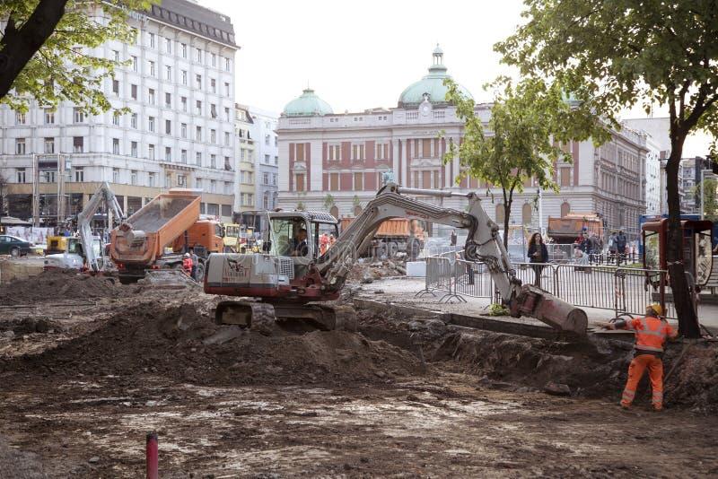 De restauratie van Belgrado stock foto