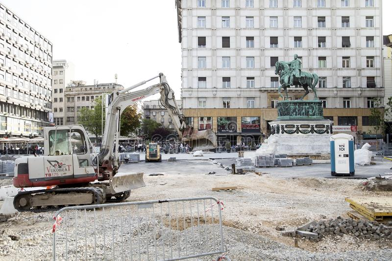 De restauratie van Belgrado stock afbeeldingen