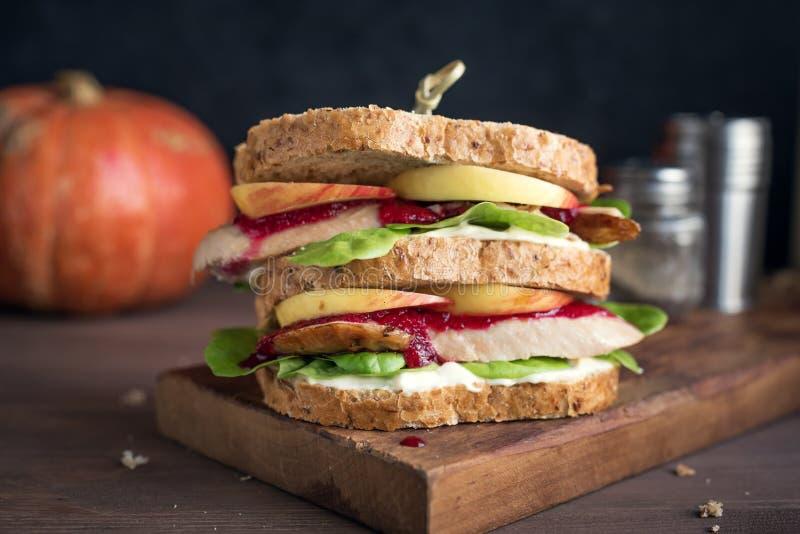 De Resterende Sandwich van Turkije royalty-vrije stock foto