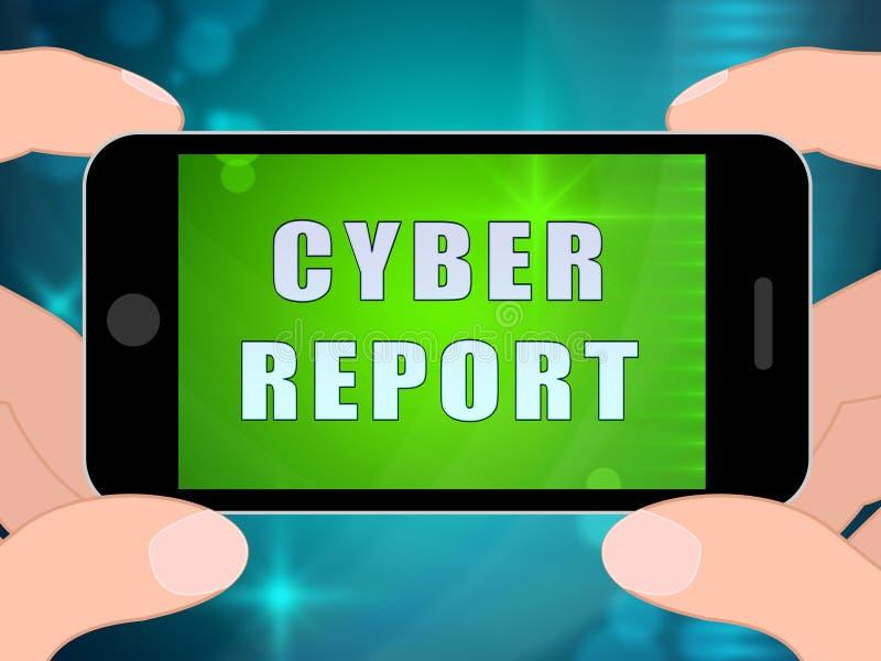 De Resultaten 2d Illustratie van Analytics van het Cyberrapport Digitale vector illustratie