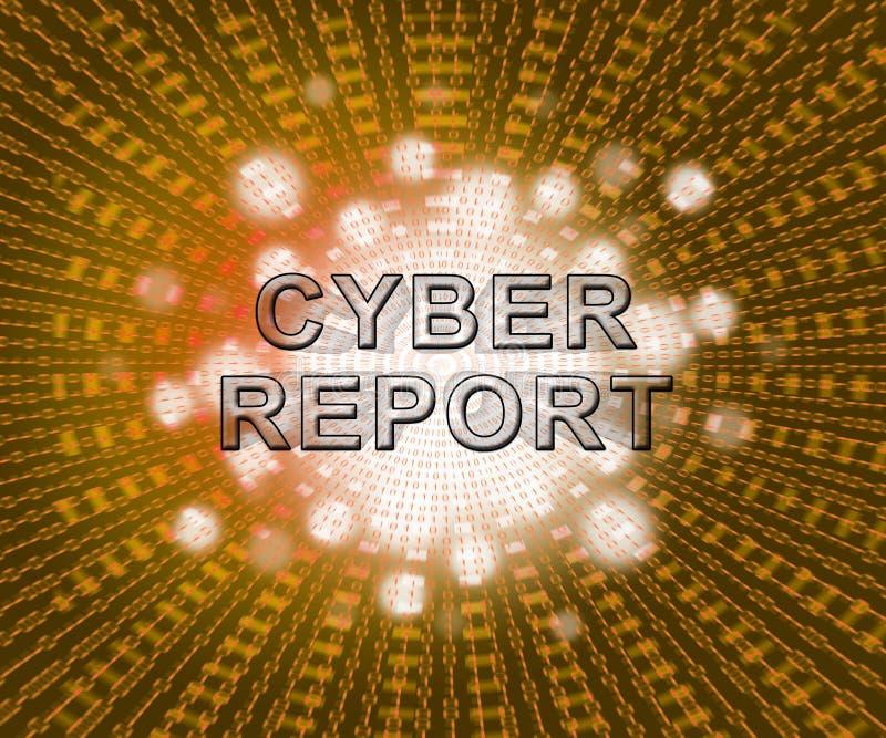 De Resultaten 2d Illustratie van Analytics van het Cyberrapport Digitale stock illustratie