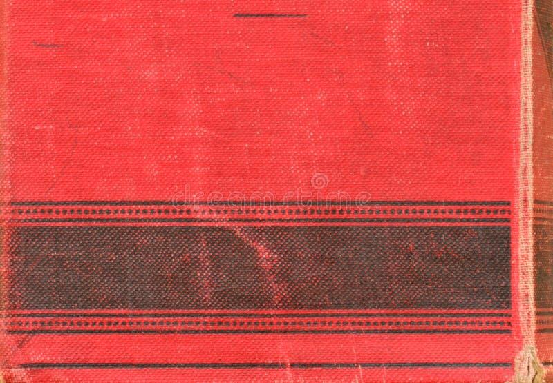 De retour du livre de vintage Motif à grain fin avec la texture rouge et noire photographie stock