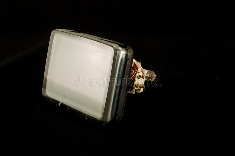 De retour du vieux tube de cathode de télévision d'isolement photos stock