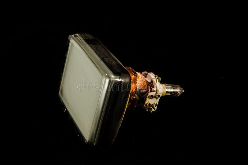 De retour du vieux tube de cathode de télévision d'isolement photo libre de droits