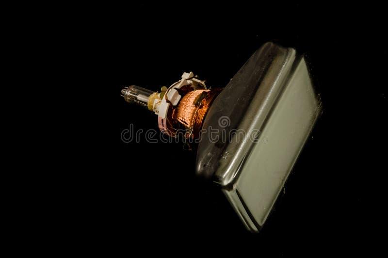 De retour du vieux tube de cathode de télévision d'isolement photographie stock