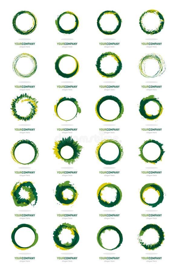 De reusachtige inzameling van embleemontwerpen stock illustratie