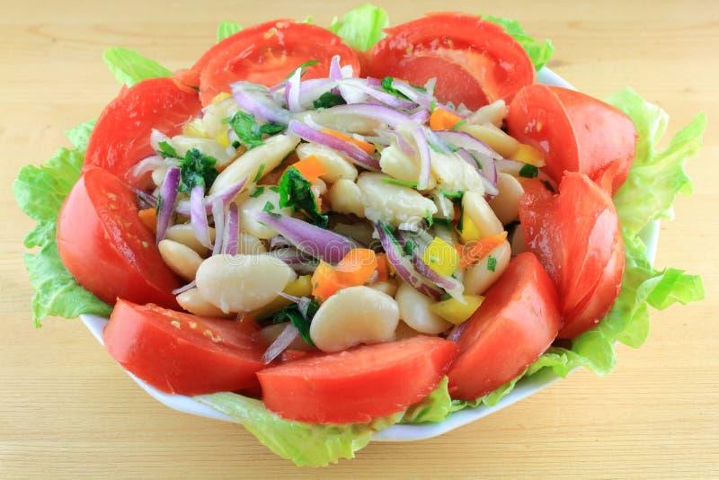 De reusachtige Salade van Lima Bonen royalty-vrije stock fotografie