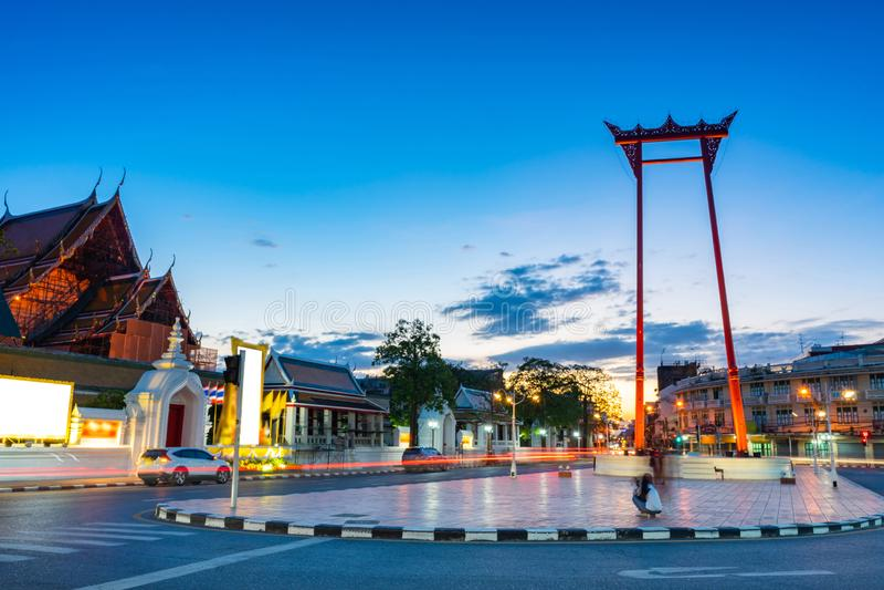 De Reuze lange blootstelling van Ching Cha van Schommelingssao in Bangkok, Thailand stock afbeelding