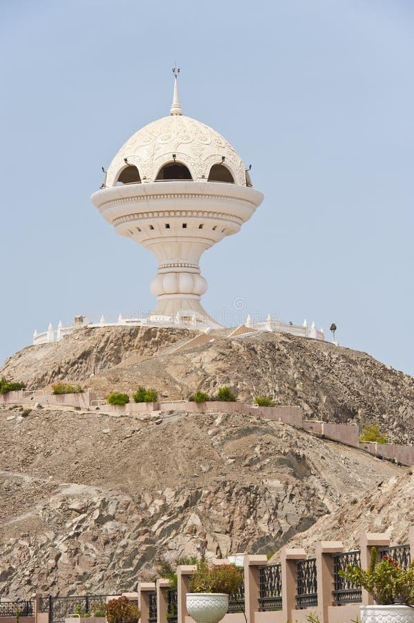 De reuze structuur van de wierookbrander in Muscateldruif Oman stock afbeelding