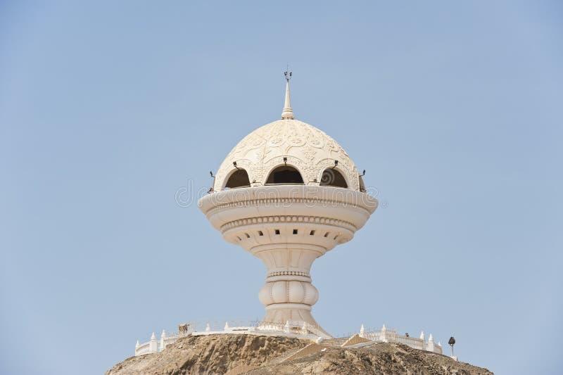 De reuze structuur van de wierookbrander in Muscateldruif Oman stock foto's