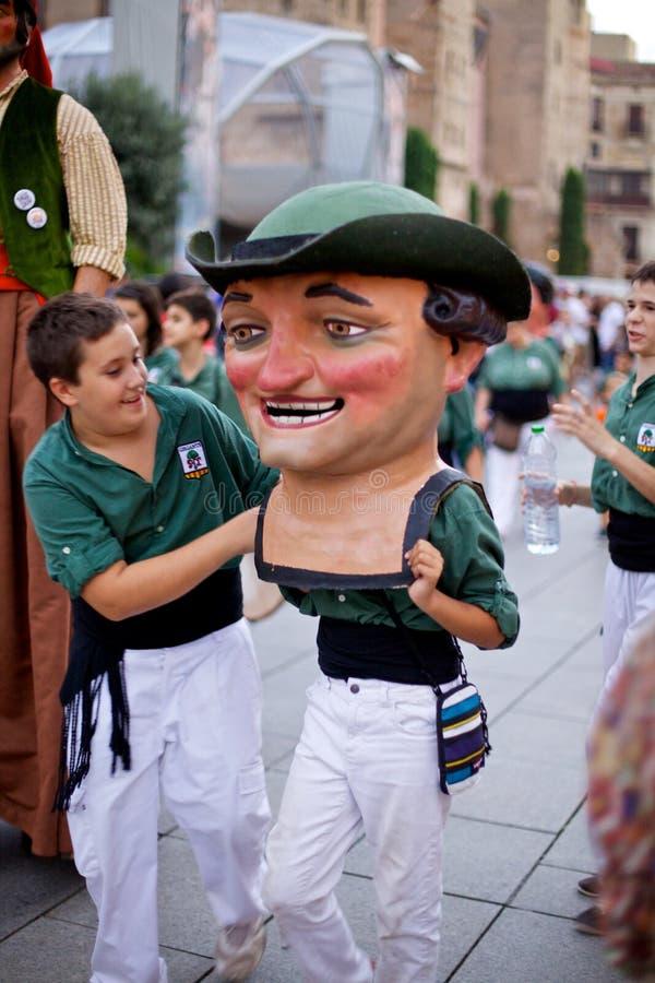 De reuzen paraderen in La Mercè Festival 2013 van Barcelona royalty-vrije stock afbeelding