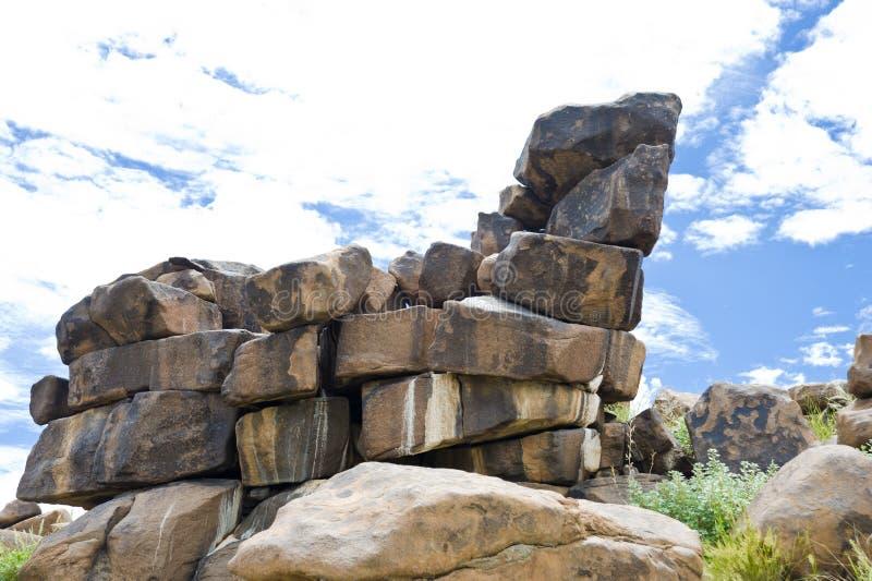 De Reuzenspeelplaats van de steenwoestijn in Namibië royalty-vrije stock afbeeldingen