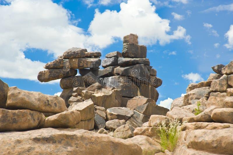 De Reuzenspeelplaats van de steenwoestijn in Namibië stock afbeeldingen