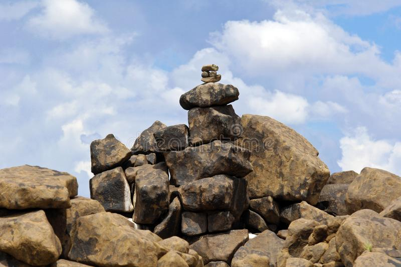De Reuzenspeelplaats van de steenwoestijn in Namibië royalty-vrije stock fotografie