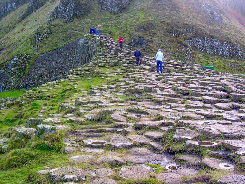 De reuzeverhoogde weg van ` s, Co van Antrim , Noord-Ierland, het UK, Europa royalty-vrije stock foto's