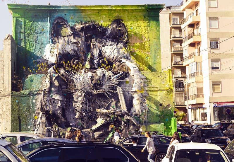 De Reuzewasbeer Street Art royalty-vrije stock fotografie