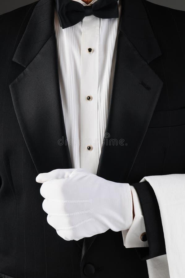 De Revers van de Holding van de kelner royalty-vrije stock foto's
