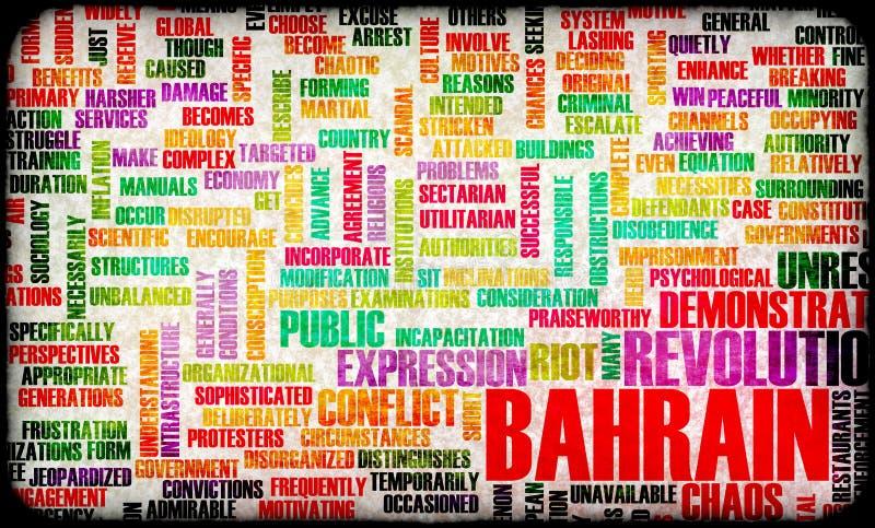 De Revolutie van Bahrein vector illustratie
