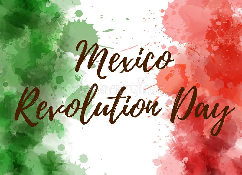 De revolutiedag van Mexico royalty-vrije illustratie