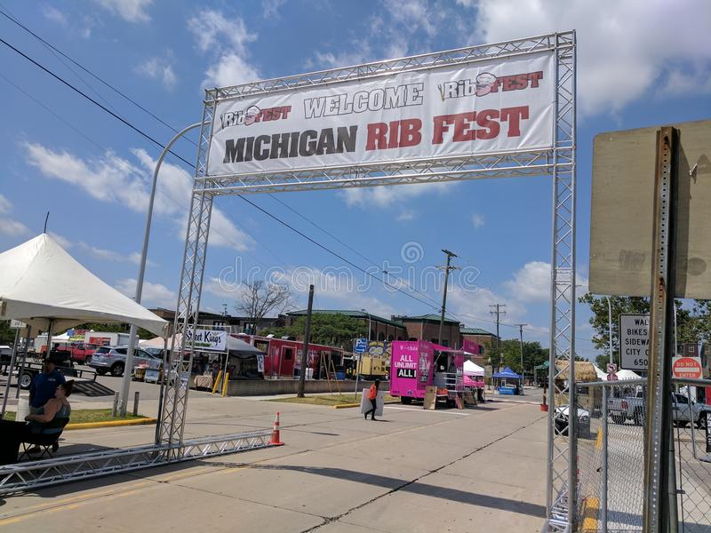 De rib fest 2017 van Michigan royalty-vrije stock foto's