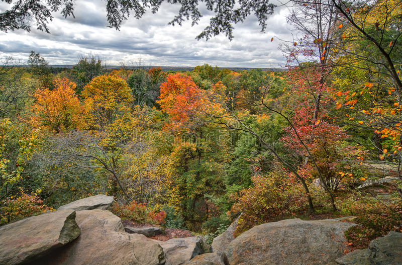 De richels overzien Cuyahoga-Vallei Nationaal Park royalty-vrije stock fotografie