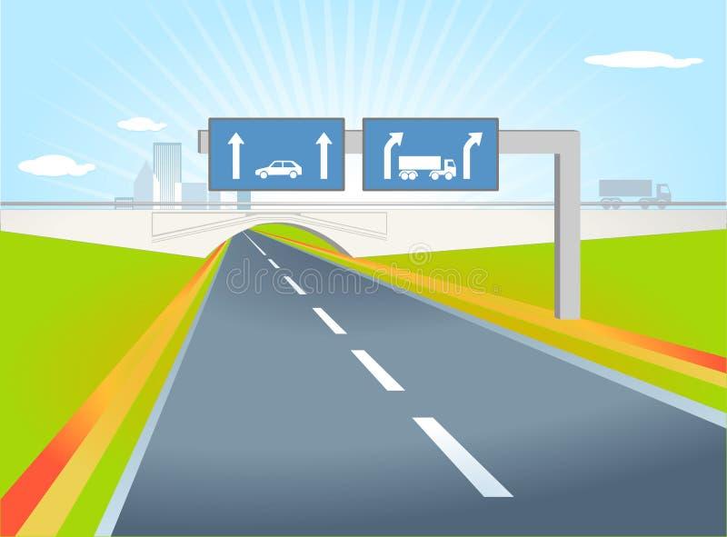 De richting van de vrachtwagen royalty-vrije illustratie