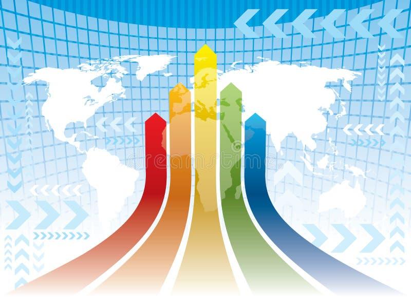 De richtingen van de wereld stock illustratie