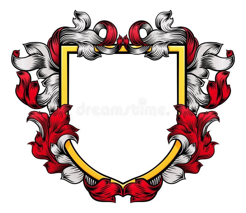 De Ridder Heraldic Family van CREST van het wapenschildschild stock illustratie