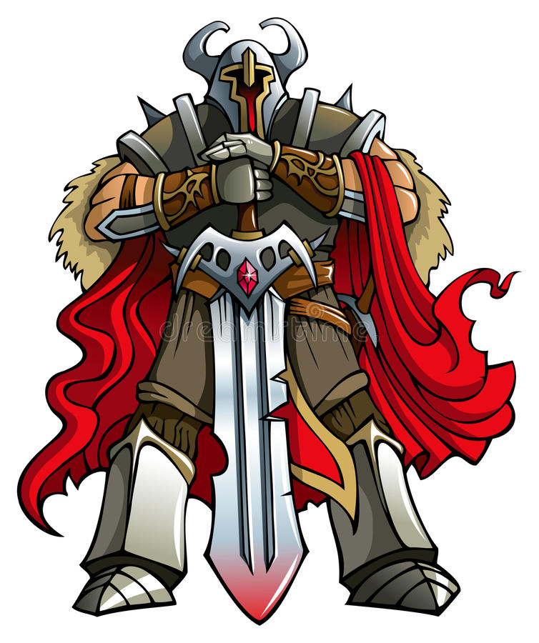 De ridder van de kruisvaarder stock illustratie