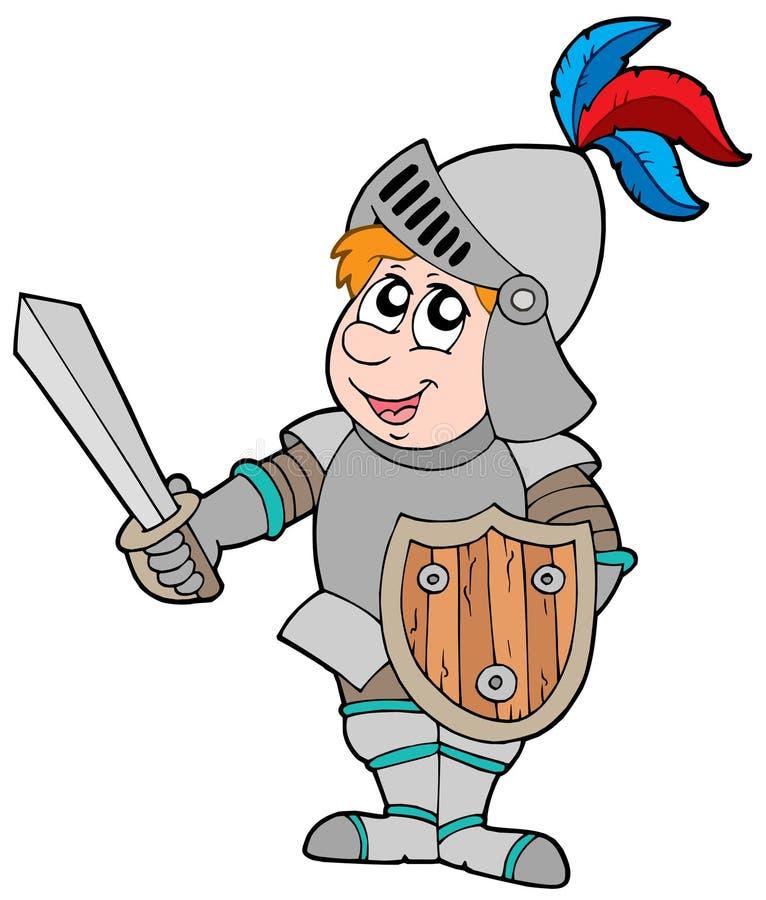 De ridder van het beeldverhaal vector illustratie