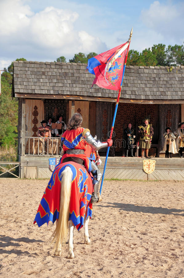 De ridder van het Festival van de renaissance stock foto's